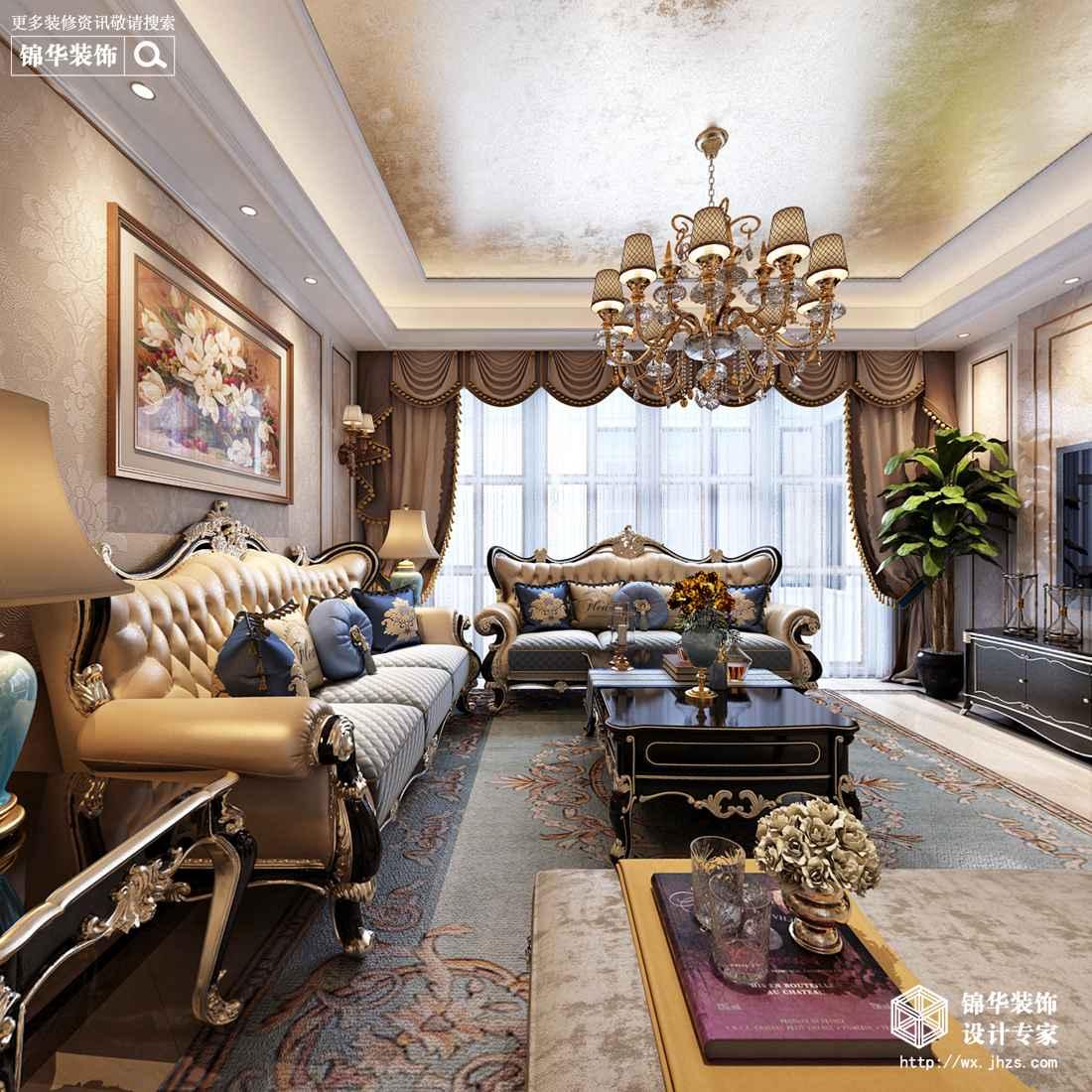 碧桂园140平欧式风格效果图
