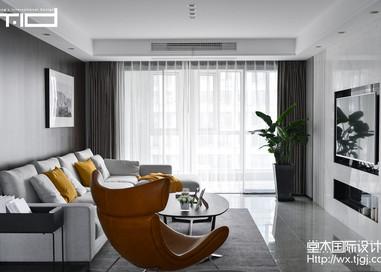 蟠龙湾花园200平现代风格实景图