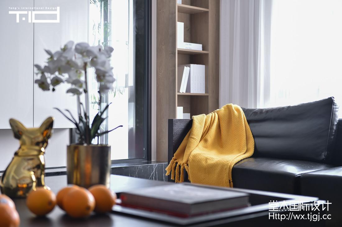新梅华府270平现代极简风格实景图装修-大户型-现代简约