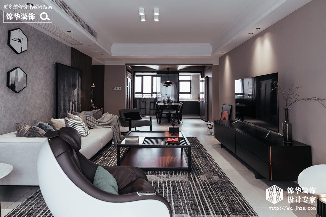 澄堡140平现代风格实景图