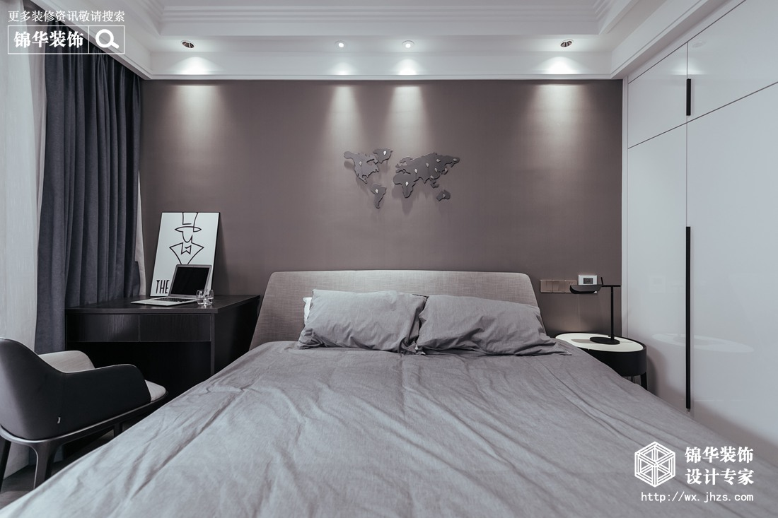 澄堡140平现代风格实景图装修-三室两厅-现代简约