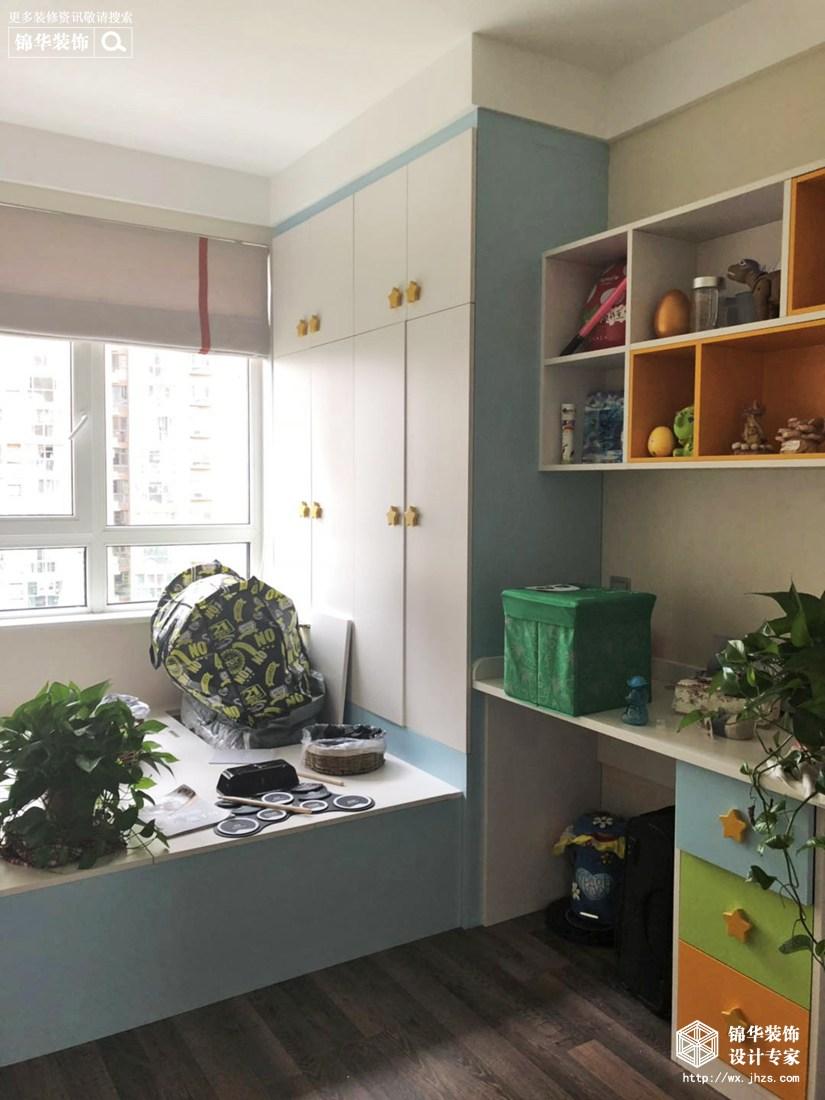 新世纪壹号140平现代简约风格实景图装修-三室两厅-现代简约