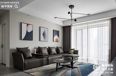 现代简约-华悦氿峰-两室两厅-118平-装修效果实景图