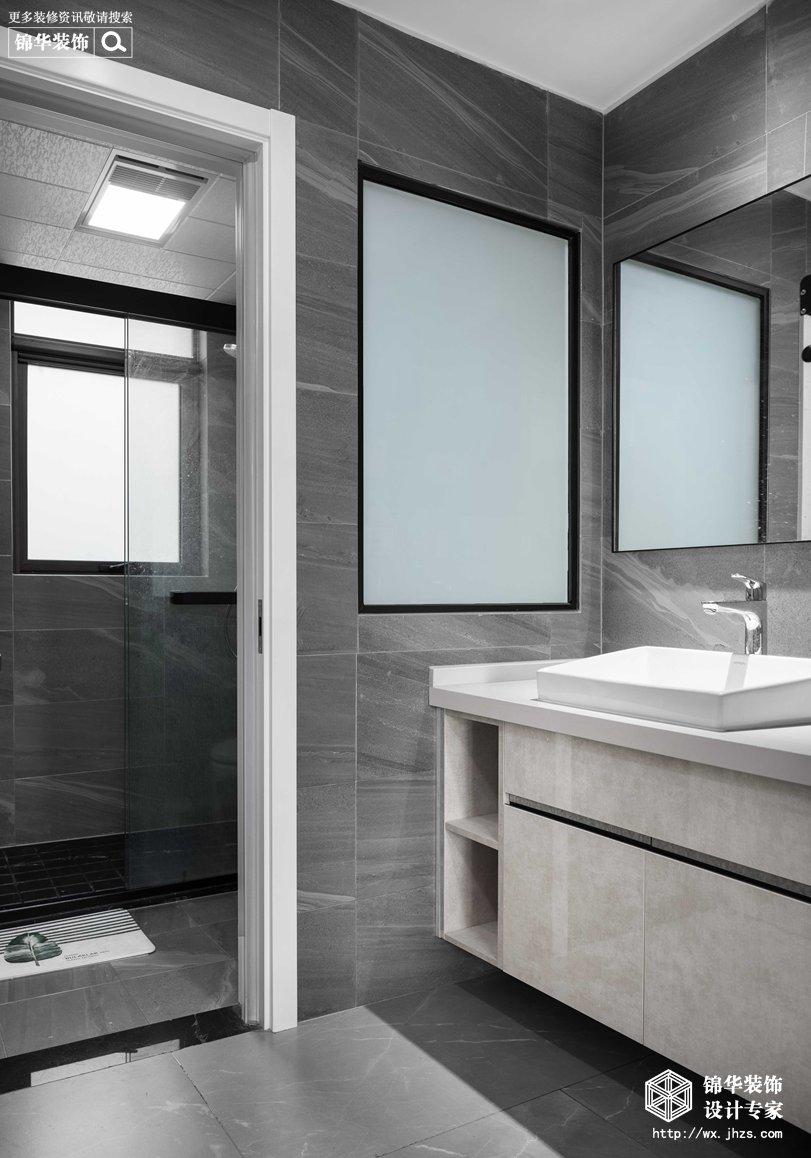 现代简约-华悦氿峰-两室两厅-118平-卫生间-装修效果实景图