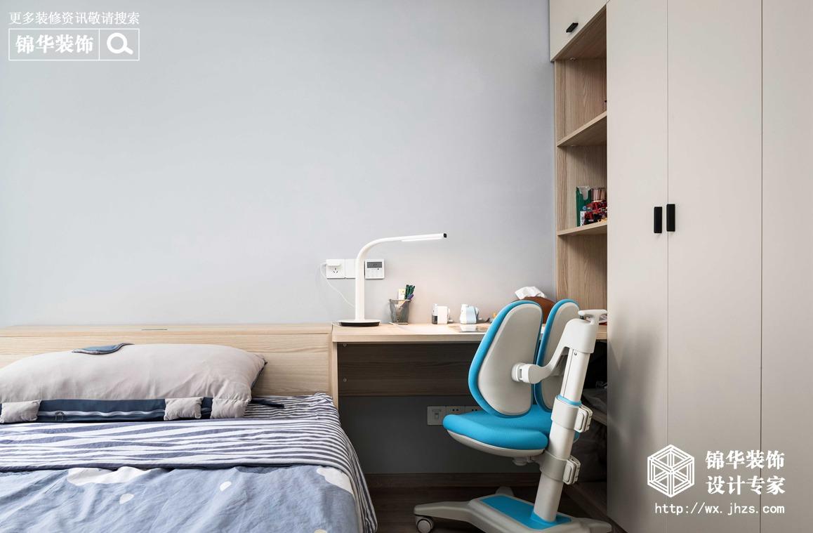 现代简约-华悦氿峰-两室两厅-118平-卧室-装修效果实景图