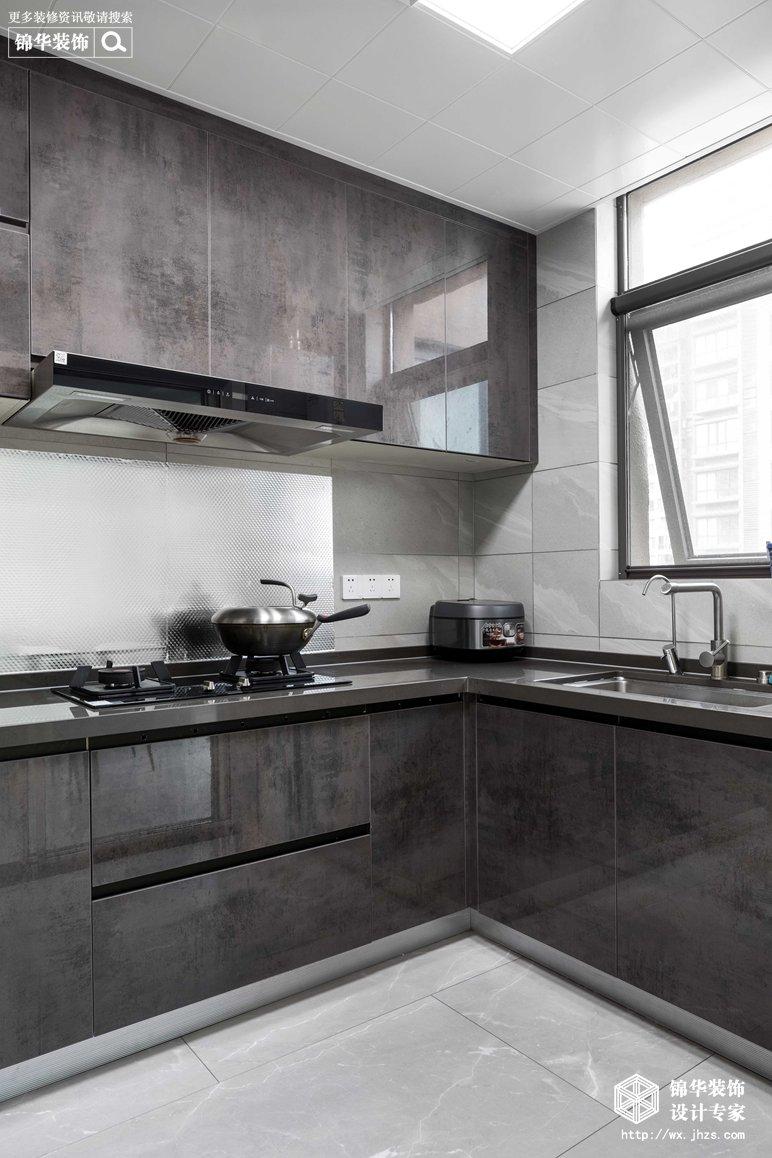 现代简约-华悦氿峰-两室两厅-118平-厨房-装修效果实景图
