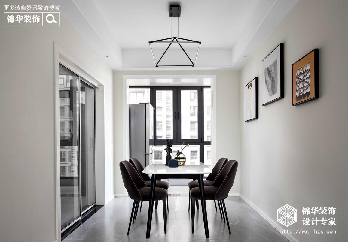 现代简约-华悦氿峰-两室两厅-118平-餐厅-装修效果实景图