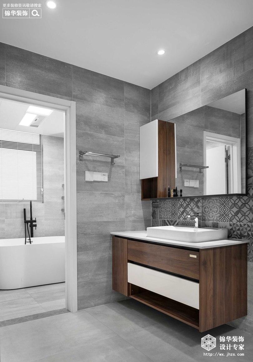 现代简约-华悦氿峰-两室两厅-177平-卫生间 -装修效果实景图