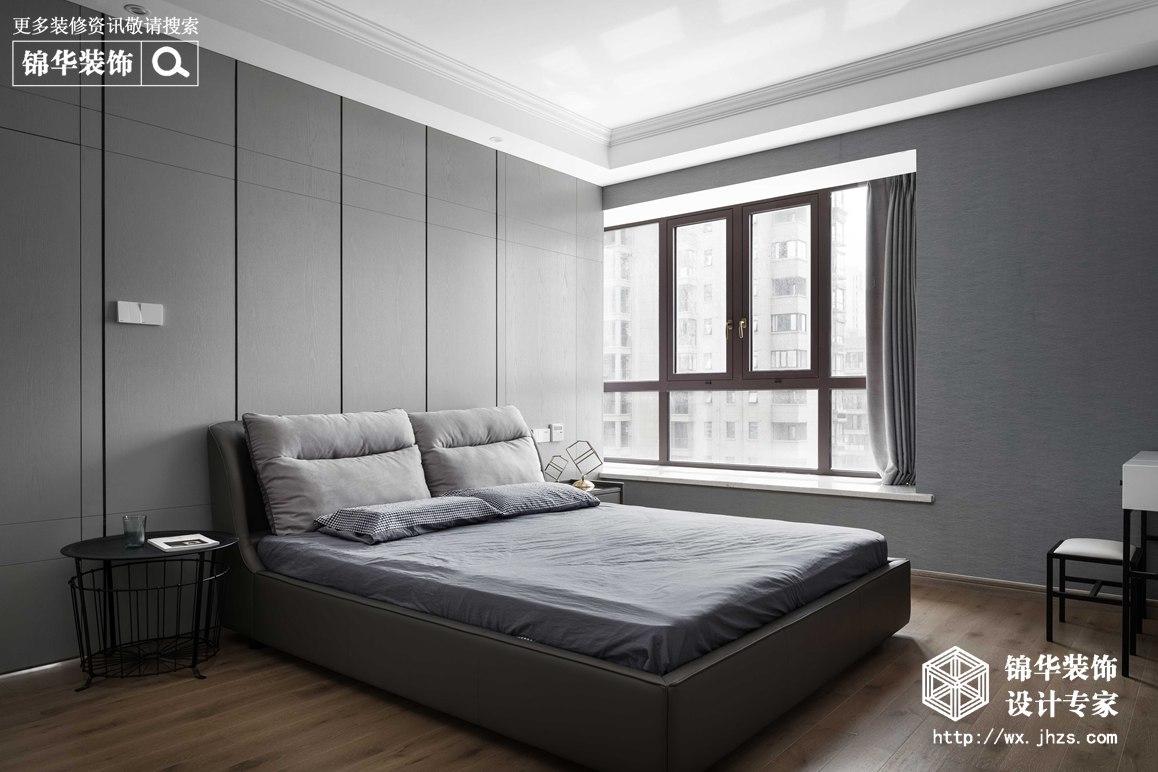 现代简约-华悦氿峰-两室两厅-177平-卧室 -装修效果实景图