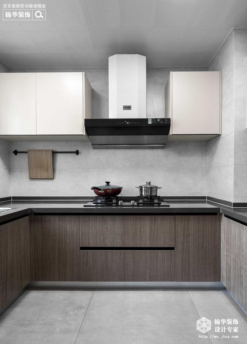 现代简约-华悦氿峰-两室两厅-177平-厨房 -装修效果实景图