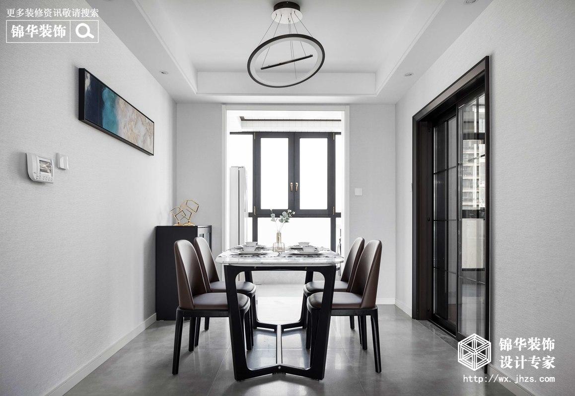 现代简约-华悦氿峰-两室两厅-177平-餐厅-装修效果实景图