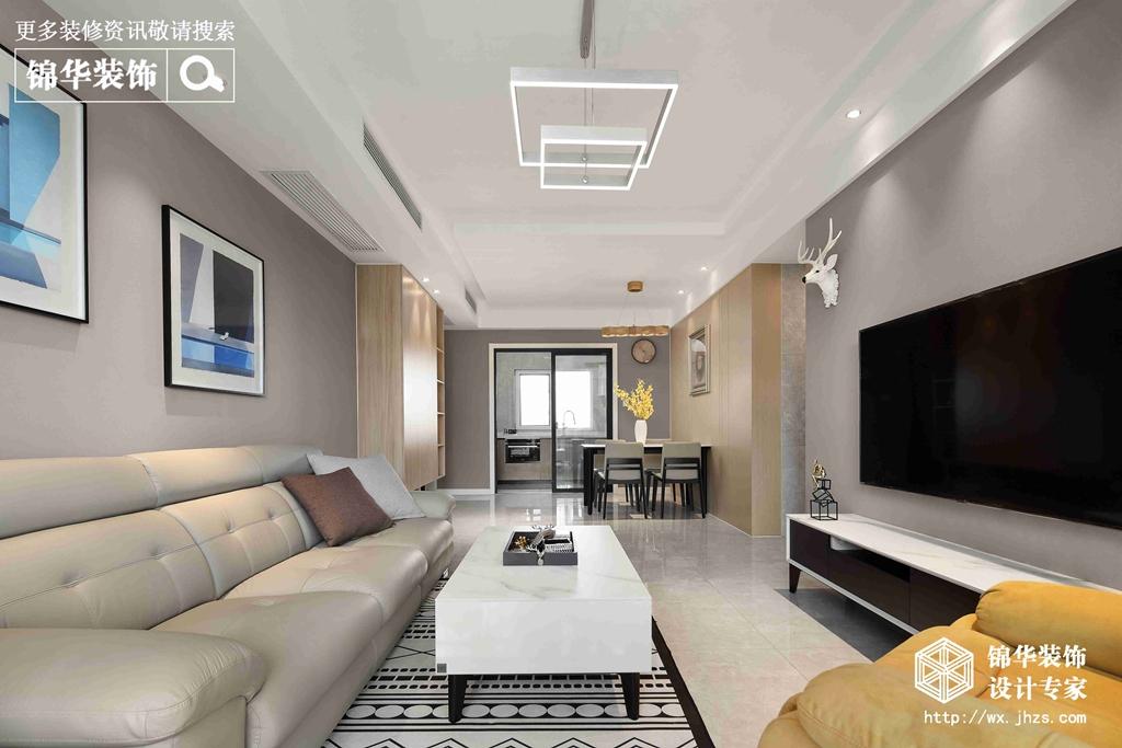 现代简约-三室两厅-115平-装修效果实景图