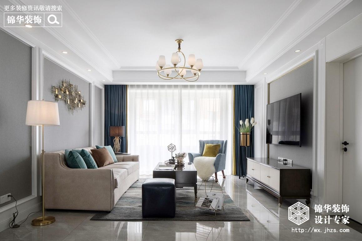 简约美式-三室两厅-127平-装修效果实景图