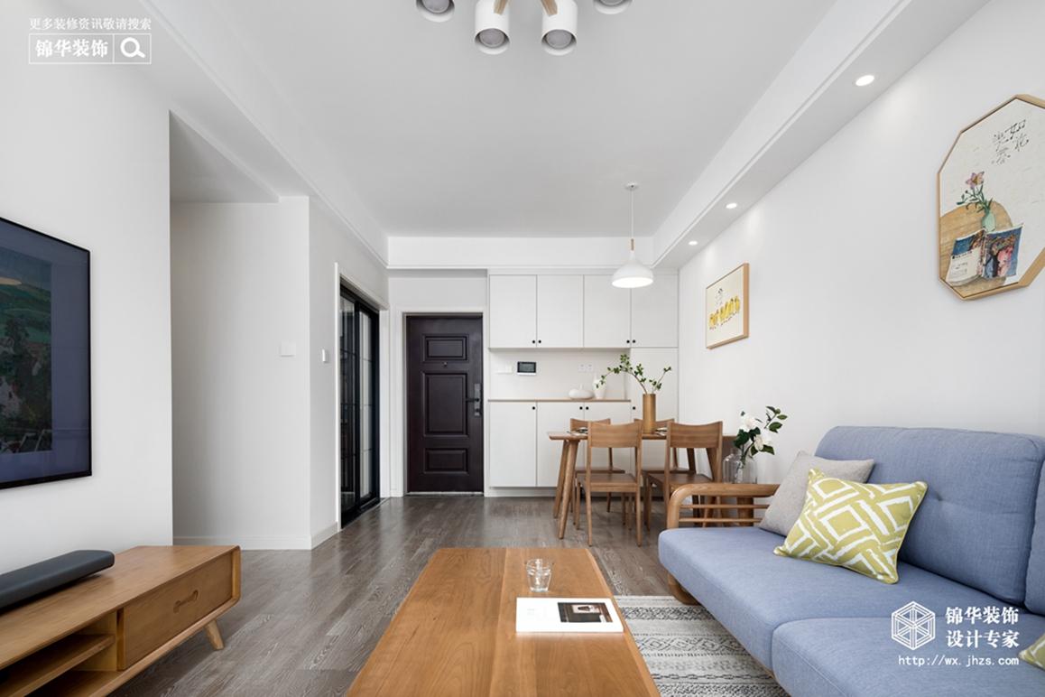 北欧风格-三室两厅-94平-装修效果实景图