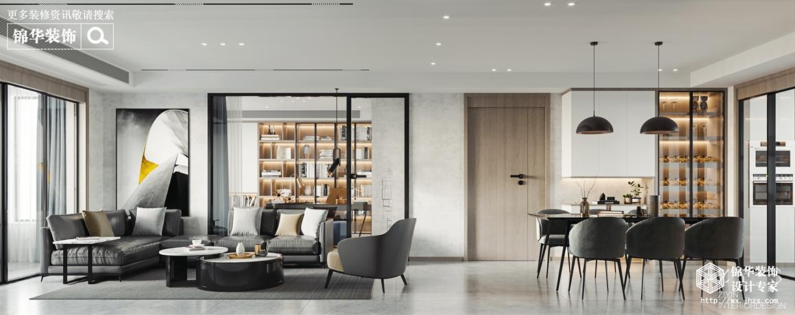 现代简约-创智泓家-四室两厅-142平-客厅-装修效果图