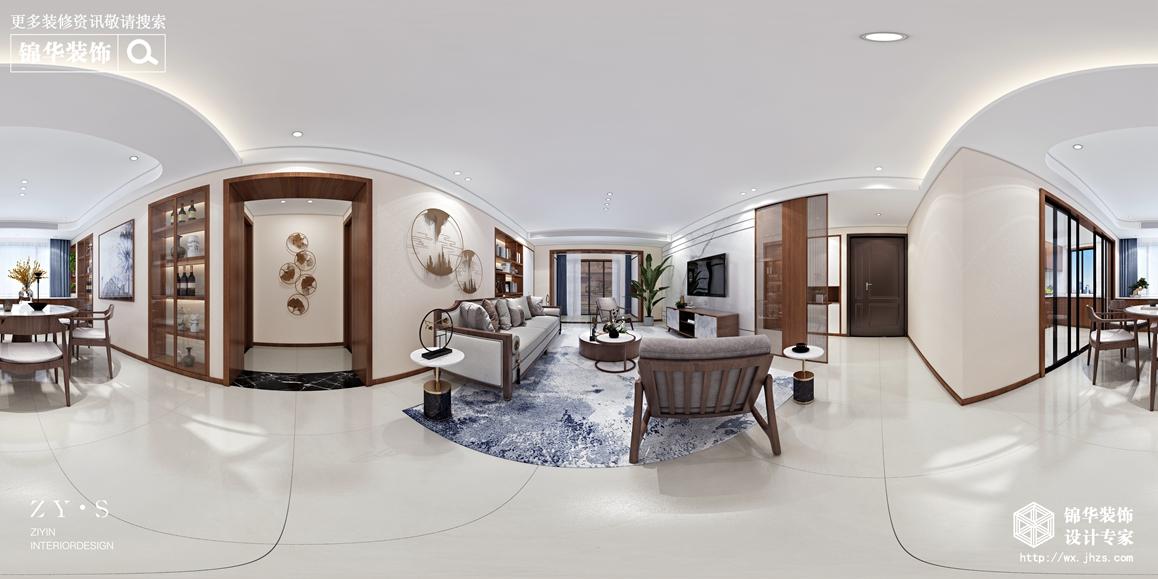 现代中式-丽岛华都-四室两厅-170平-装修效果图