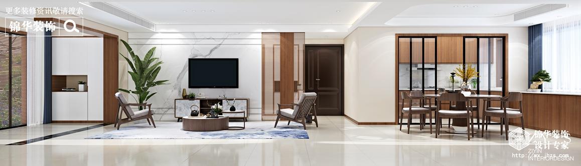 现代中式-丽岛华都-四室两厅-170平-客厅-装修效果图