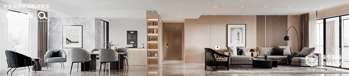 现代简约-杨子华都-四室两厅-230平-客餐厅-装修效果图