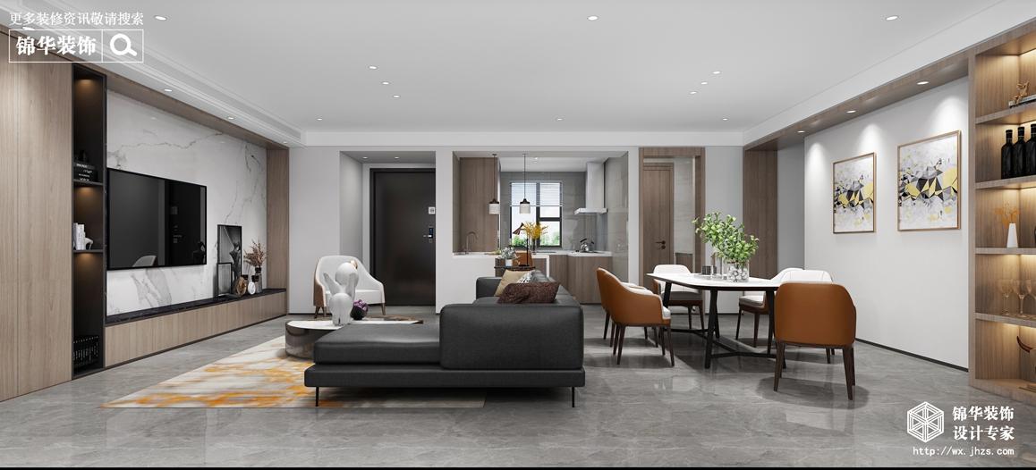 现代简约-运河世家-四室两厅-147平-装修效果图