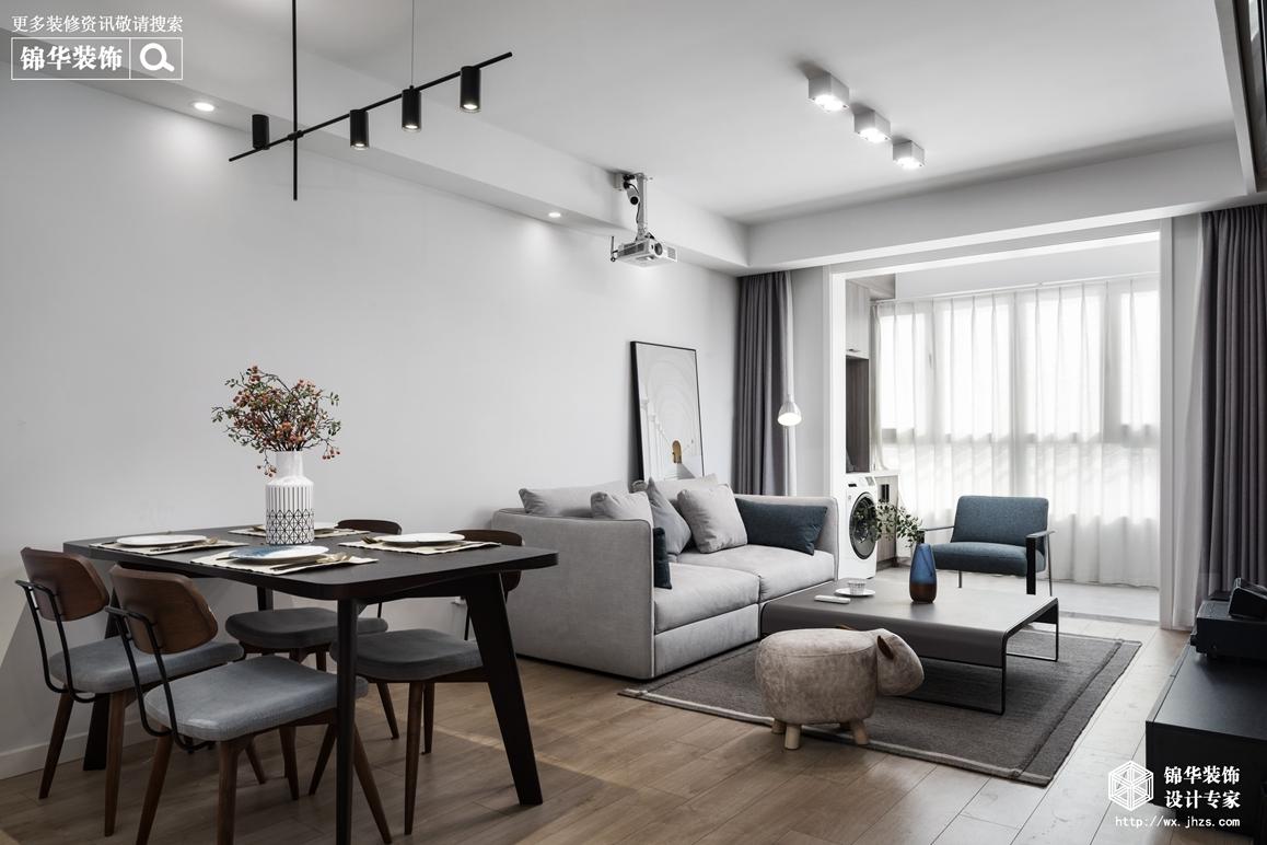 现代风格-三室两厅两卫-98平-装修效果实景图