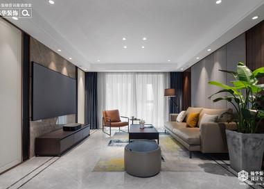 现代轻奢-三室两厅-130平-装修效果实景图