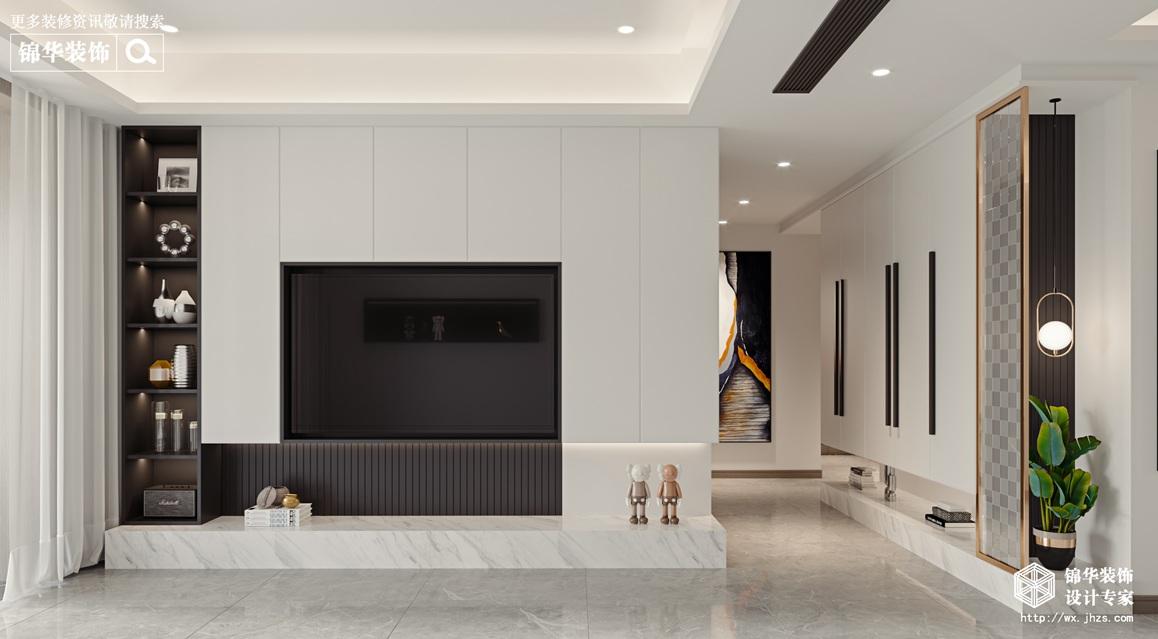 现代简约-新河湾-三室两厅-145平-装修效果图