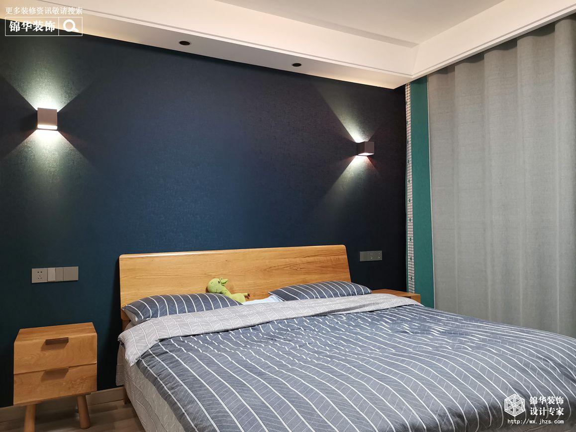 现代简约-绿城玉兰花园-三室两厅-142平-卧室-装修效果实景图