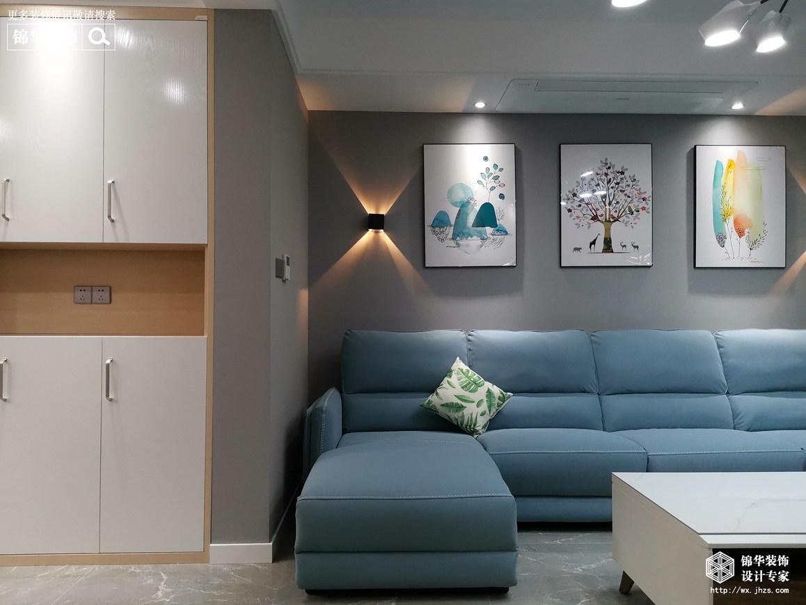 现代北欧-绿城玉兰花园-三室两厅-142平-装修效果实景图