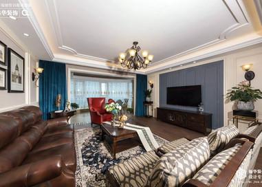 美式风格-碧桂园-四室两厅-195平-装修效果实景图