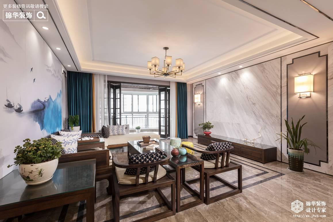 新中式-碧桂园-四室两厅-187平-装修效果实景图