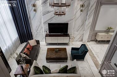 美式风格-名豪山庄-别墅-350平-装修效果实景图