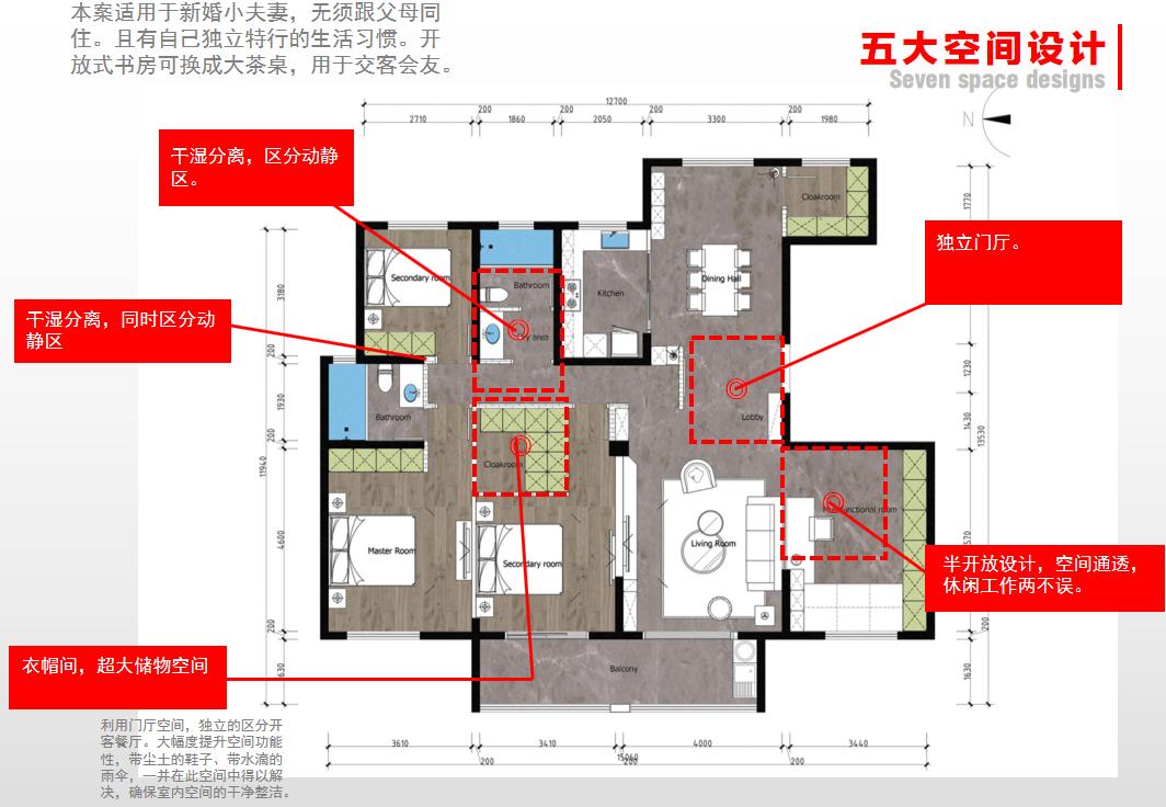 南方豪庭183平户型研发