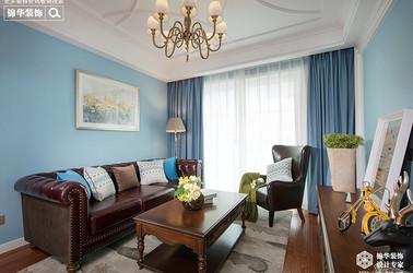 美式风格-两室两厅-100 平-装修效果实景图