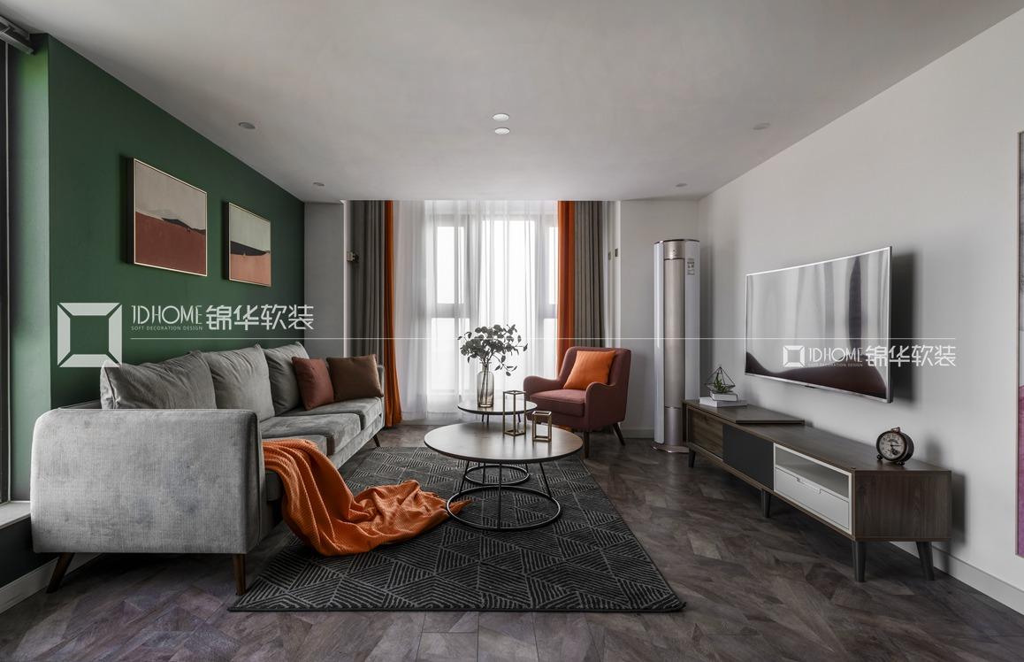现代北欧-赛格公馆-两室两厅-48平-装修实景效果图