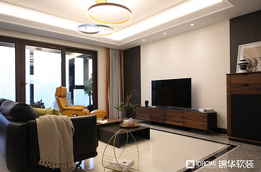 现代简约风格-富力十号-四室两厅-167平-软装实景效果图