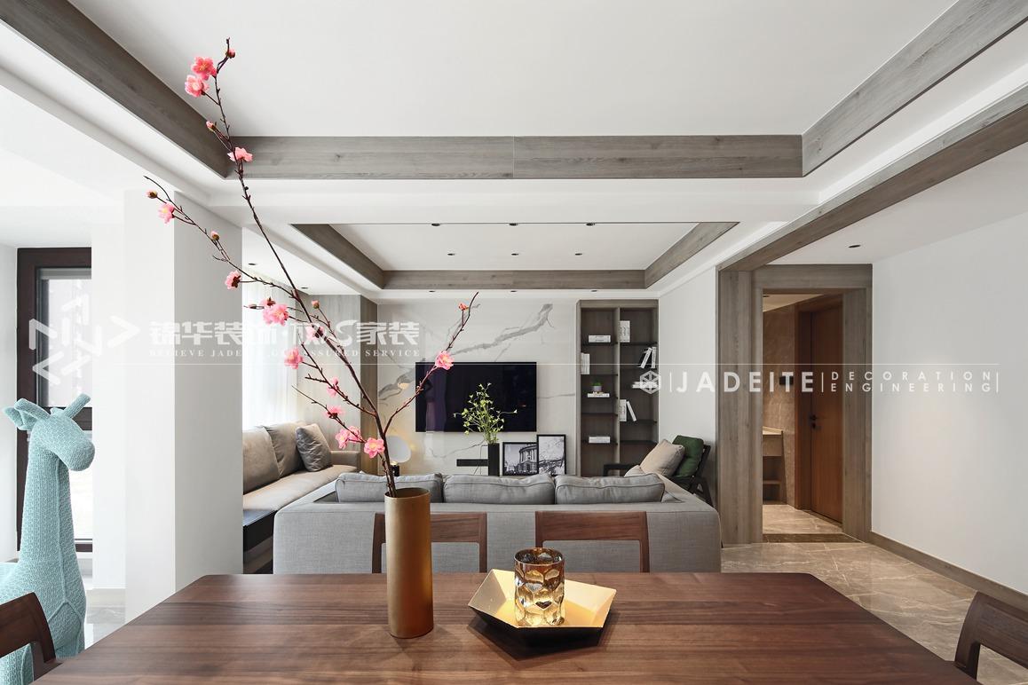 现代极简-三室两厅-144平-装修效果实景图