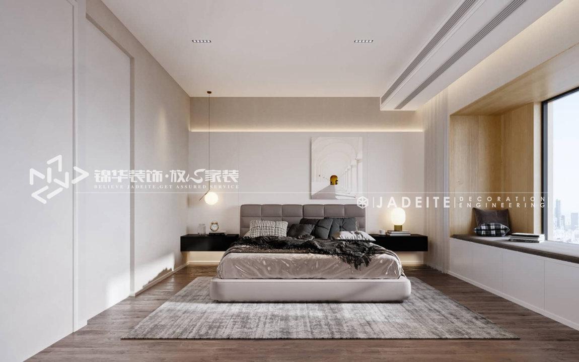 现代极简-碧桂园-四房两厅-180平-卧室-装修效果图