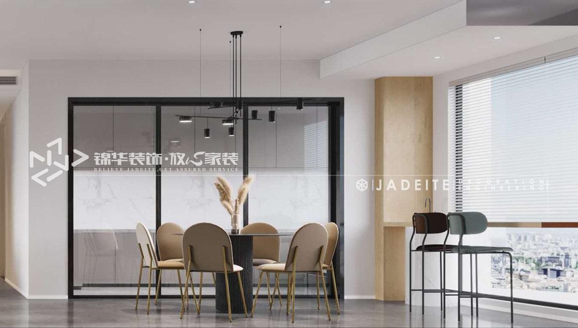 现代极简-碧桂园-四房两厅-180平-餐厅-装修效果图