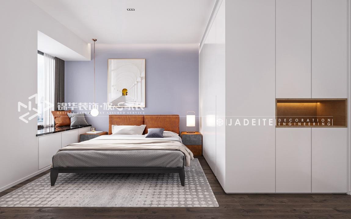 新中式风格-尚城国际-三房两厅-120平-卧室-装修效果图