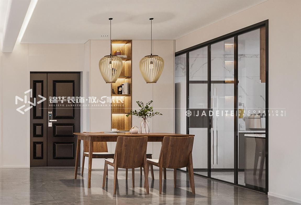 新中式风格-尚城国际-三房两厅-120平-餐厅-装修效果图
