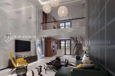 现代风格-黄山华都-别墅-345平-装修效果图