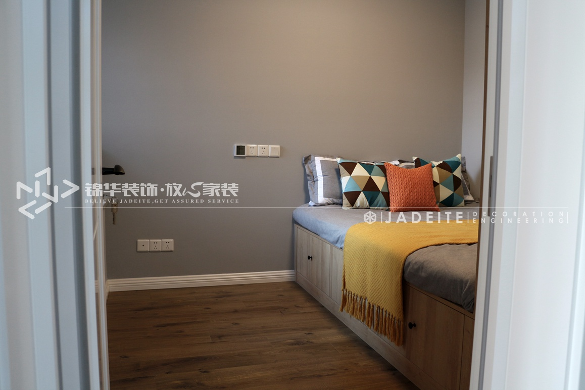 美式风格-丹芙春城-两室两厅-88平-装修实景效果图装修-两室两厅-简美