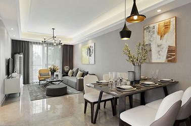 现代风格-绿城玉兰花园-三室两厅-104平-装修实景效果图