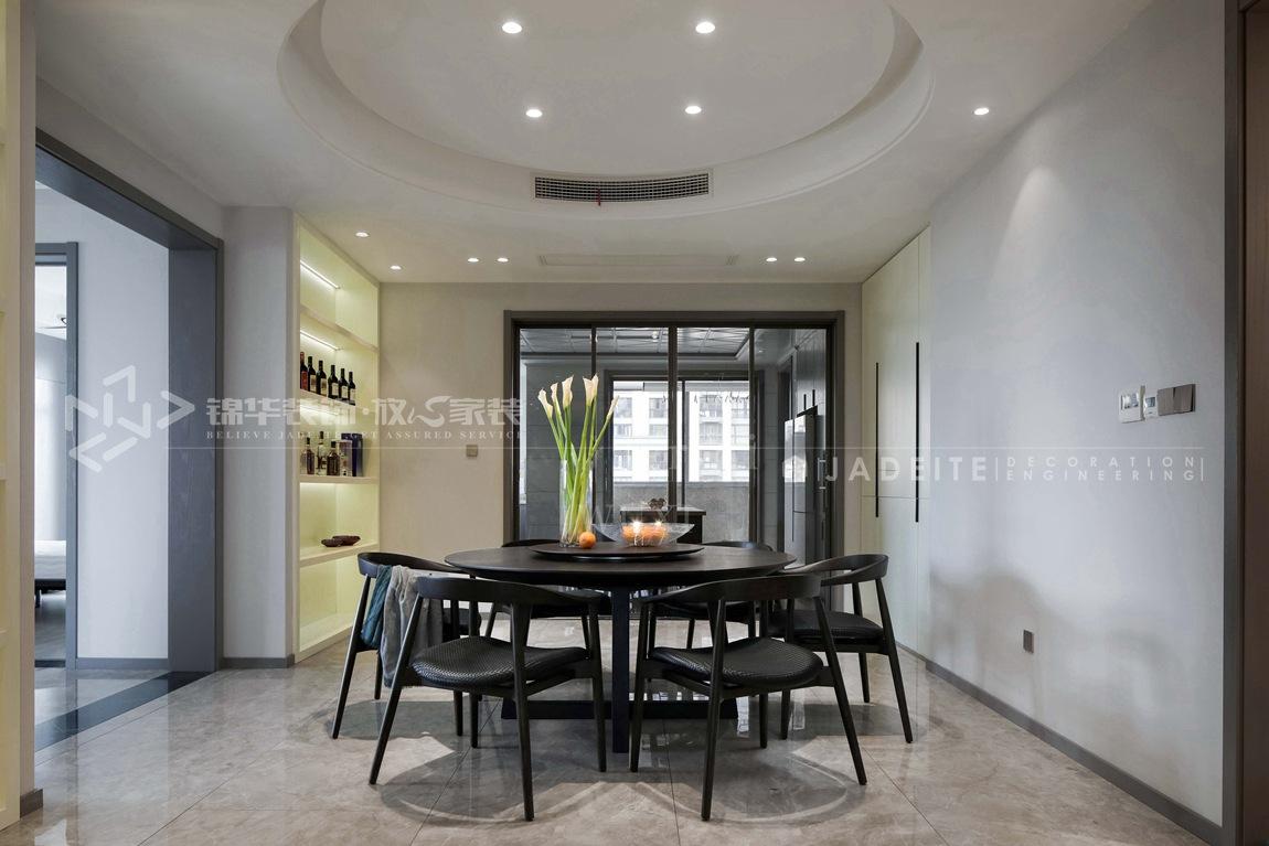 现代风格-壹号公馆-大户型-250平-装修实景效果图-餐厅