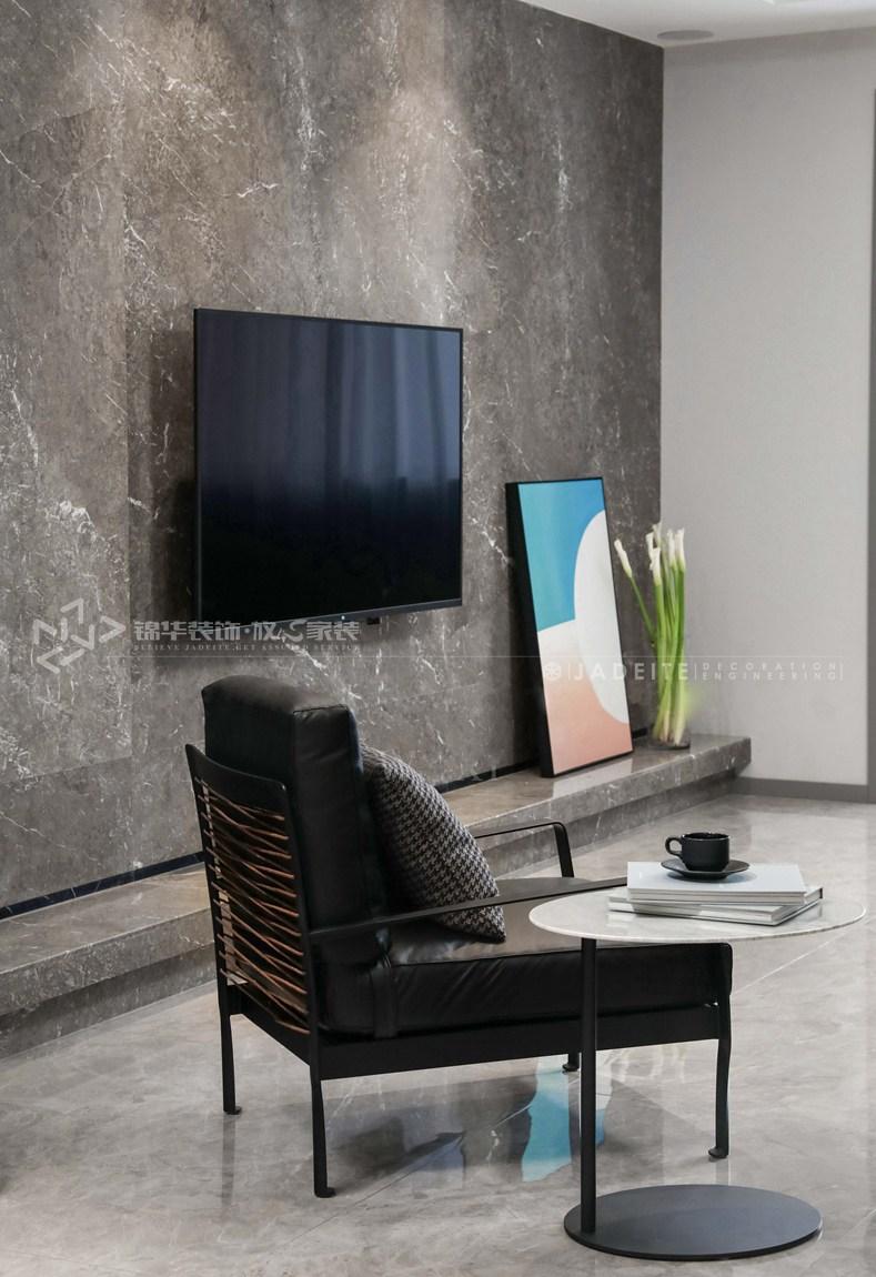 现代风格-壹号公馆-大户型-250平-装修实景效果图-客厅