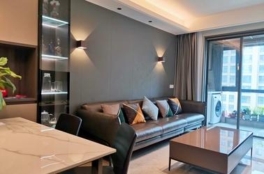 现代简约风格-绿城-三室两厅-98平-装修实景效果图