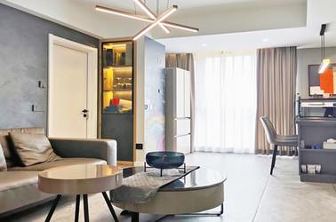现代简约风格-绿城-三室两厅-140平-装修实景效果图