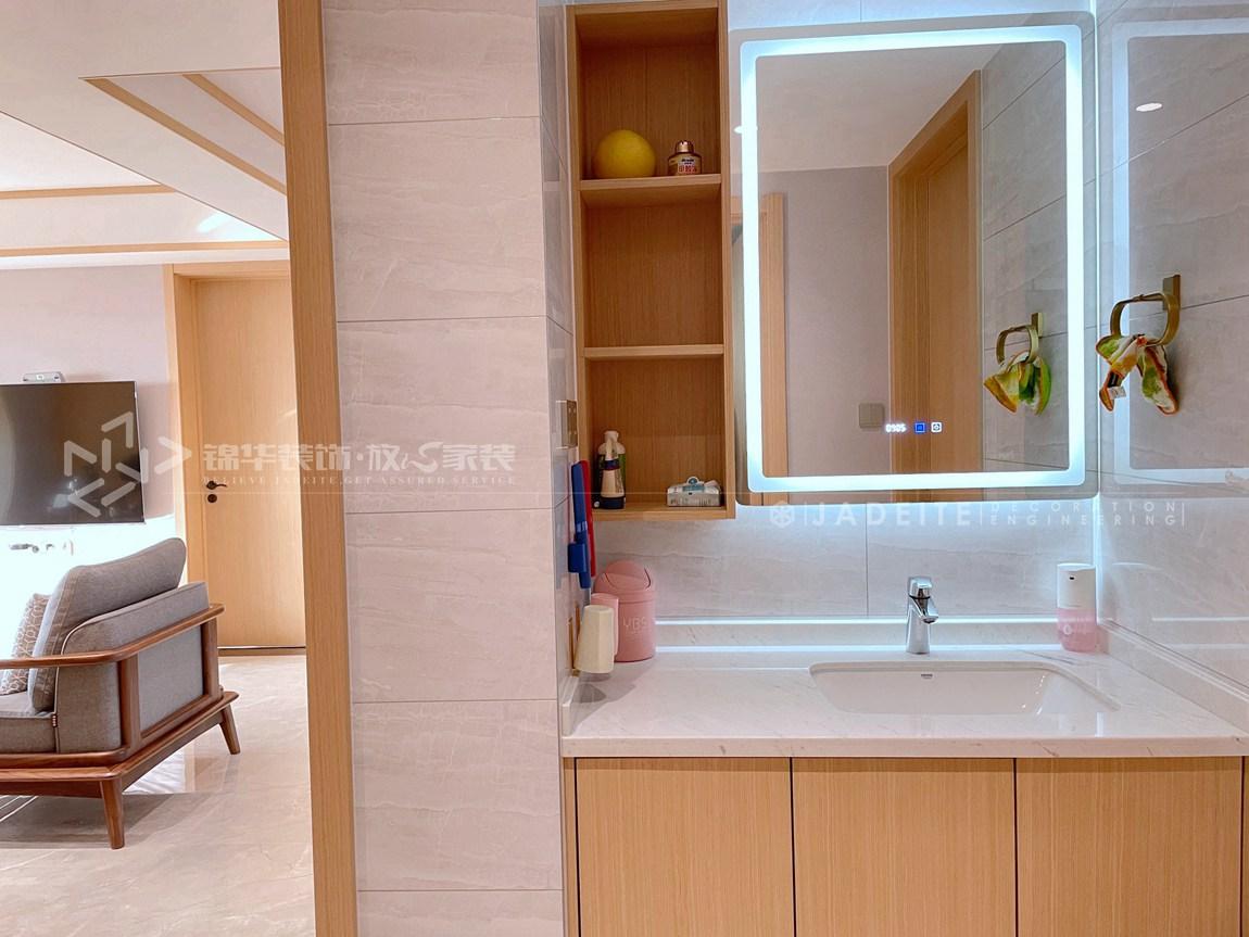 新中式风格-宏建国际-三室两厅-129平-装修实景效果图-卫生间