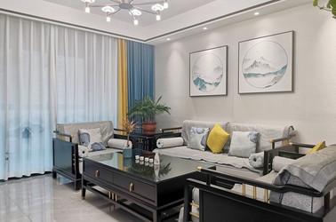 新中式风格-花苑-四室两厅-143平-装修实景效果图