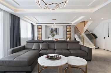 现代简约-三室两厅-140平-装修实景效果图